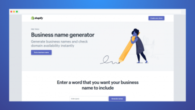 Photo of Find the Business Name Generator functional features